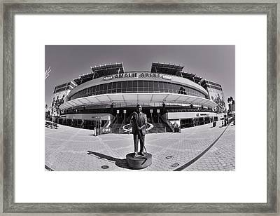 Amalie Arena Black And White Framed Print