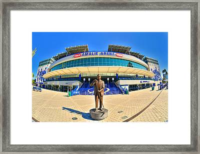 Framed Print featuring the photograph Amalie Arena by Lisa Wooten