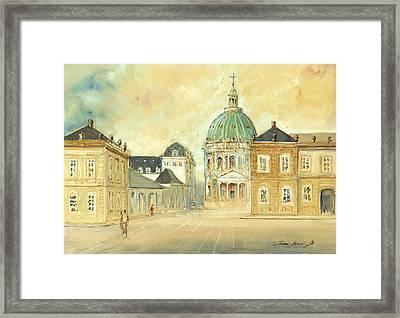 Amalienborg Palace Copenhagen Framed Print by Juan  Bosco