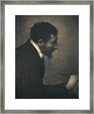 Aman-jean Framed Print by Georges-Pierre Seurat
