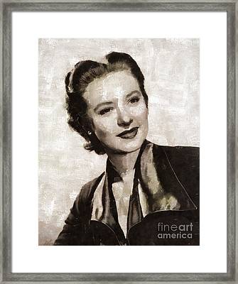 Amanda Blake, Vintage Actress By Mary Bassett Framed Print by Mary Bassett