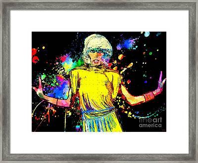 Amanda Lear Grunge Framed Print by Daniel Janda