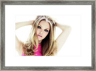 Amanda Seyfried 17 Framed Print