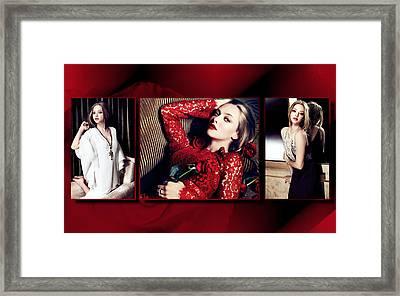 Amanda Seyfried 5 Framed Print