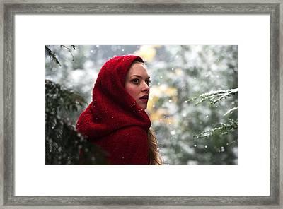 Amanda Seyfried In Red Riding Hood Framed Print