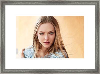 Amanda Seyfried Vogue Magazine Framed Print