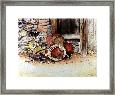 Amanda's Saddle Framed Print