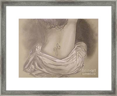 Amanda's Tattoo Framed Print by Crispin  Delgado