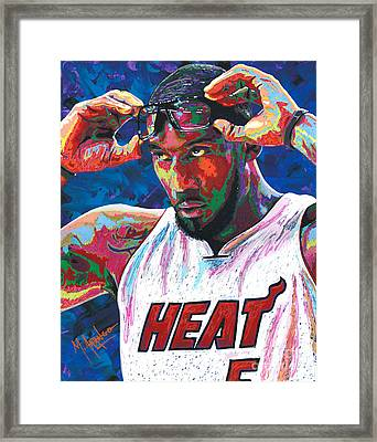Amare Stoudemire Framed Print by Maria Arango