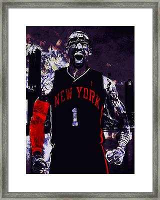 Amare Stoudemire  On Fire Framed Print