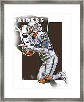 Amari Cooper Oakland Raiders Oil Art Framed Print
