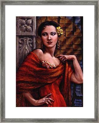 Amarillo Rose Framed Print by Jane Bucci