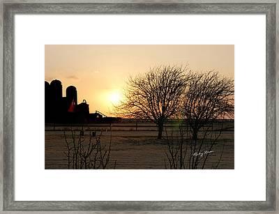 Amarillo Sunset Framed Print by Ricky Dean