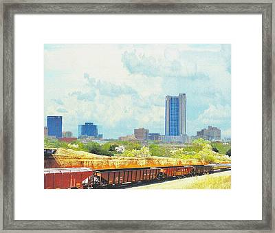 Amarillo Texas In The Spring Framed Print by Janette Boyd