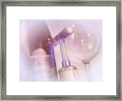 Amarone Wine Tasting Framed Print by Stefano Senise