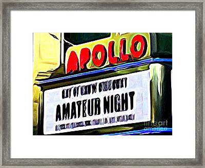 Amateur Night Framed Print by Ed Weidman