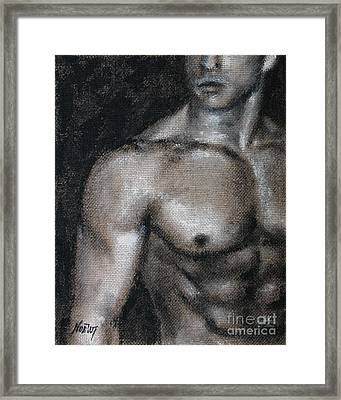 Amatory Framed Print by Jindra Noewi