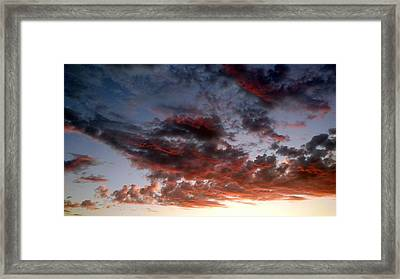 Spectacular Clouds  Framed Print