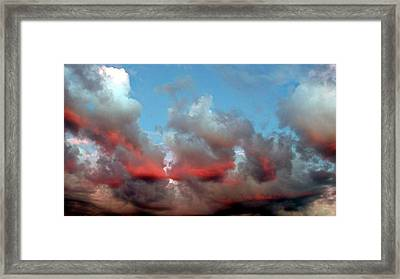 Imaginary Real Clouds  Framed Print