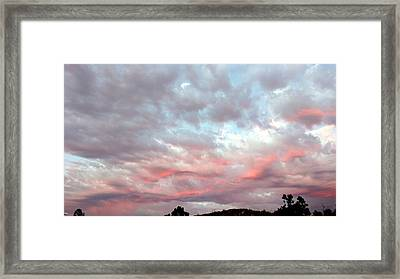 Soft Clouds Framed Print