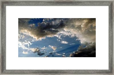 Amazing Sky Photo Framed Print