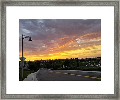 Colorful Sunset In Mission Viejo Framed Print