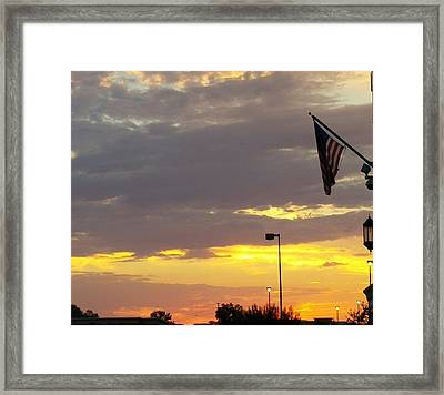 Patriotic Sunset Framed Print