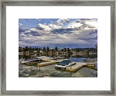 Devils Lake Oregon Framed Print