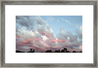 Amazing Clouds At Dusk Framed Print