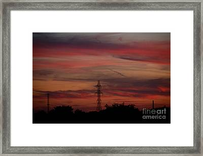 Amazing Colorful Bright Sunset Framed Print by Reva Steenbergen