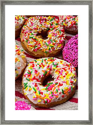Amazing Donuts Framed Print by Garry Gay
