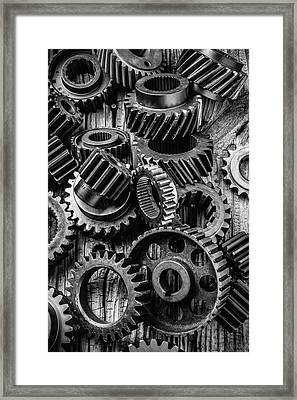 Amazing Gears Framed Print by Garry Gay