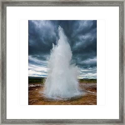 Amazing Geysir In Iceland Framed Print