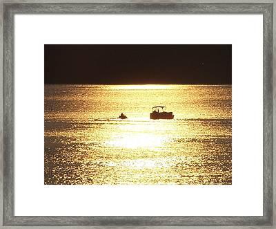 Amazing Golden Sunset Framed Print by Mike Hazelwood