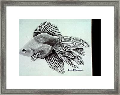 Amazing Goldfish Framed Print by Deb Jazi Raulerson