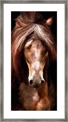 Framed Print featuring the painting Amazing Horse by James Shepherd