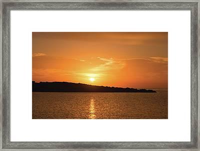 Dawn In Ibiza, Spain Framed Print