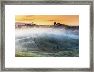 Amazing Landscape Of Tuscany Framed Print by Evgeni Dinev