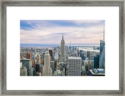 Amazing Manhattan Framed Print by Az Jackson