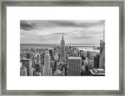 Amazing Manhattan Bw Framed Print by Az Jackson