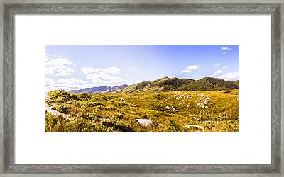 Amazing Mountain Panorama Landscape Framed Print by Jorgo Photography - Wall Art Gallery