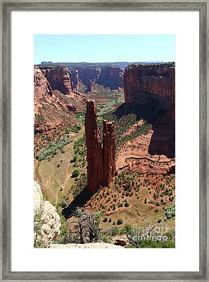 Amazing Spider Rock Framed Print by Christiane Schulze Art And Photography