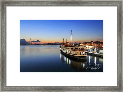 Sunrise Of Istanbul,turkey. Framed Print