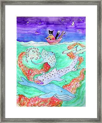 Amazing Things Below Framed Print by Bonnie Kelso