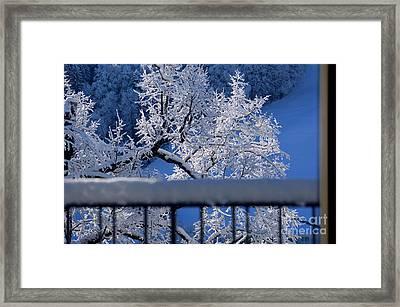 Amazing - Winterwonderland In Switzerland Framed Print by Susanne Van Hulst