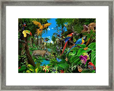 Amazon Sunrise Framed Print by Gerald Newton