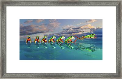 Amazon Tree Frog The Vocal Jumper Framed Print