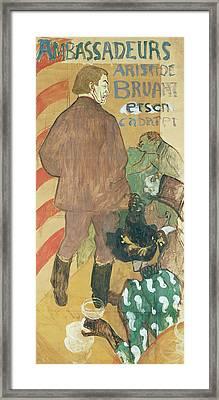 Ambassadeurs, Aristide Bruant And His Cabaret Framed Print