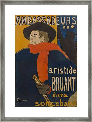 Ambassadeurs  Aristide Bruant Framed Print