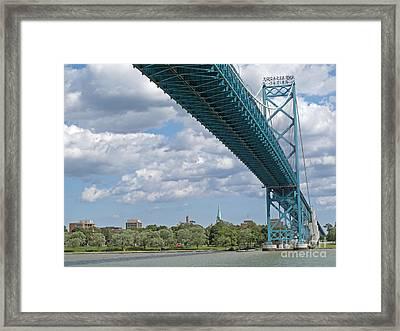 Ambassador Bridge - Windsor Approach Framed Print